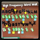 High Frequency Word Wall