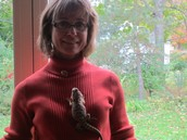 My mom with a lizard