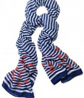 Navy Stripe Elephant Scarf