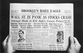 A newspaper from the day of the crash