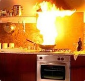 Ways to put out a Kitchen fire