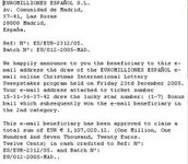 2 of 2 examples of Internet Scams