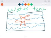 This is the water tank and the turbine.