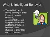 What is intelligent Behavior