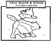 The Ursa Minor is the top and smaller bear.