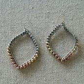 Raina earrings in mixed metal