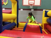 So much fun in the bounce obstacle course