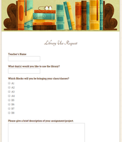 Library Use Request Form