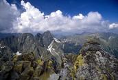 These are mountains in the Tatra Mountain Range in Poland.