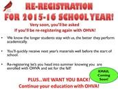 Re-Registration 2015-16!