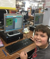 Jayden during Hour of Code