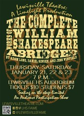 The Complete Works of William Shakespeare (abridged) -- Jan. 21-23