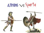 Athens and Sparta were in war in the Peloponnesian war.