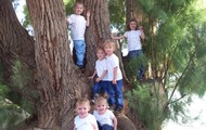 My three nieces and three nephews from Jason's side.