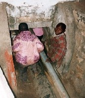 Abandoned children finding shelter in the drainage
