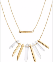Rebel Cluster Necklace Gold