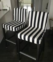 2 stylish bar stools
