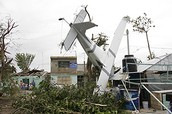 A plane crash when Hurricane Emily hit the plane and the piiot lost his life.