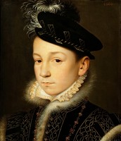 Portrait of young King Charles IX