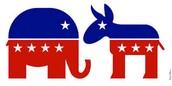 Democratic & Republican Symbols.