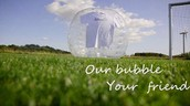 Bulle gonflable football