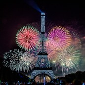 Bastille Day Fireworks - Eiffel Tower
