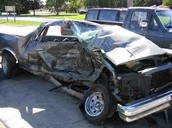 Don't text an drive or this will happen to your car