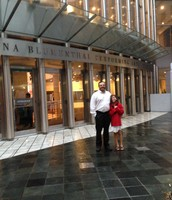 My Daughter and I out side the Blumenthal Performing Arts Center