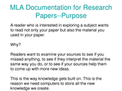 Purpose of MLA