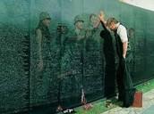 A Man Visiting The Fallen