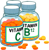 Vitamin C and B12 supplements