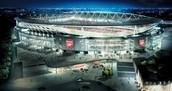 Het stadion van Arsenal