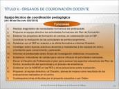 Competencias del Equipo técnico de la Coordinación Pedagógica