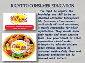 The right to consumer education