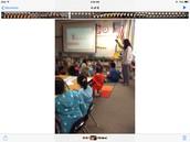 Students using Kahoot It!