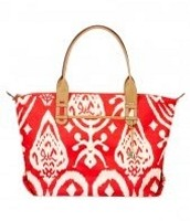 How Does She Do It Bag- Red Ikat Design $45