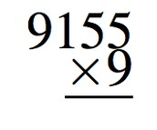 Multiply a four-digit number by a one-digit number