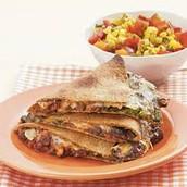 Black Bean Quesadillas with Warm Corn Salsa
