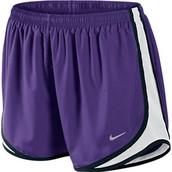 Cortos Pantalones Morado para Mujeres Nike