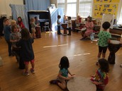 First Music Class: Drumming