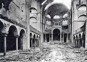 another inside of a synagog after kristallnacht