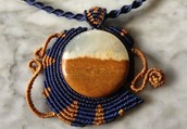 Local artisan and textile designer creates one of a kind, hand knotted jewelry encorperating stones and crystals from around the world