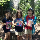 Hannah and her book buddies really enjoyed the outdoor sanctuary.