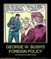 Simle Concepts on his foreign policies