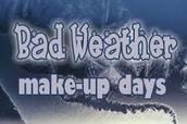 April 6 - Bad Weather Make-up Day!