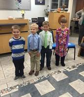 Kindergarten Greeters at November Board of Ed. Meeting