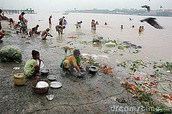 Bathing and Swimming in the Ganges
