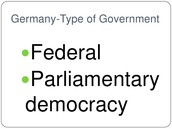 Germany's type of government.