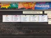 Setting up the math classroom...