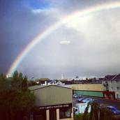 The rainbow over Killarney, Ireland